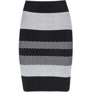 Alexander Wang Stripe Textured Knit Pencil Skirt L